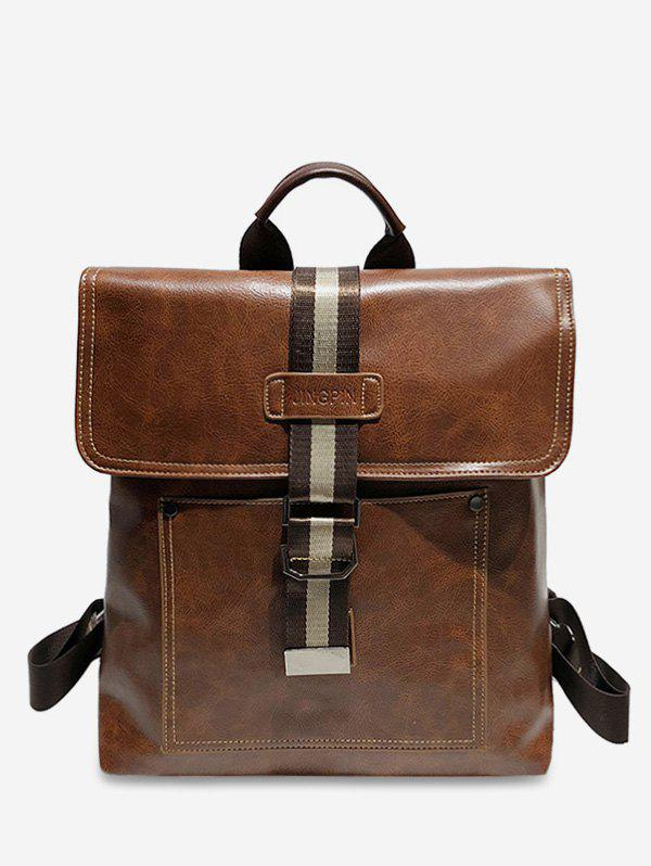 Affordable PU Leather Buckle School Backpack