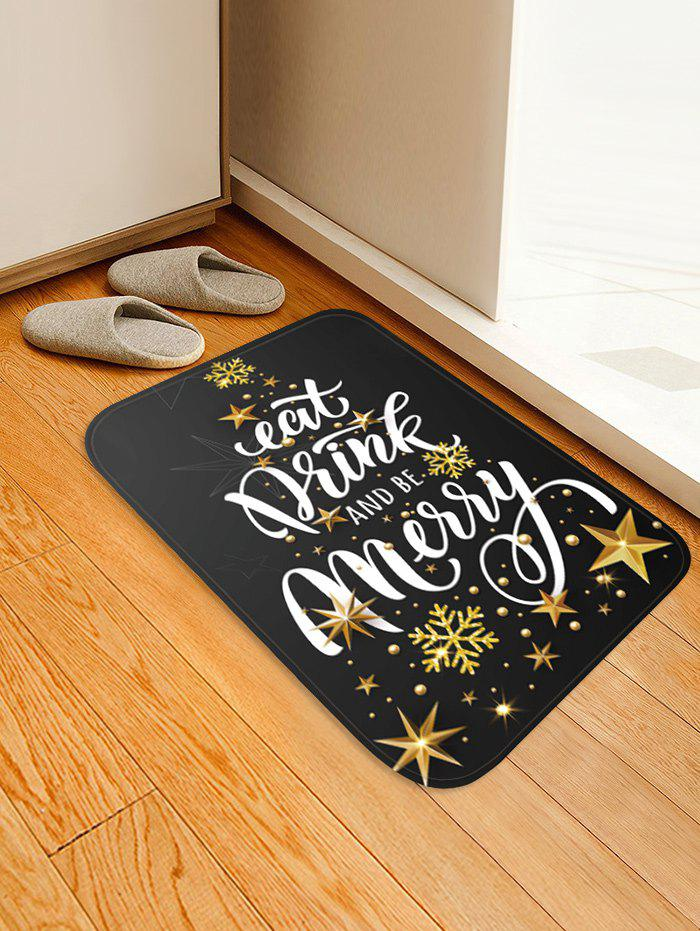 Outfits Christmas Snowflake Star Print Floor Mat