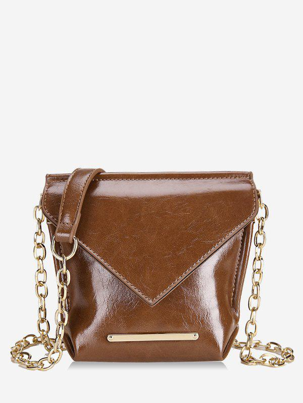 New Metal Strip Design Chain Crossbody Bag