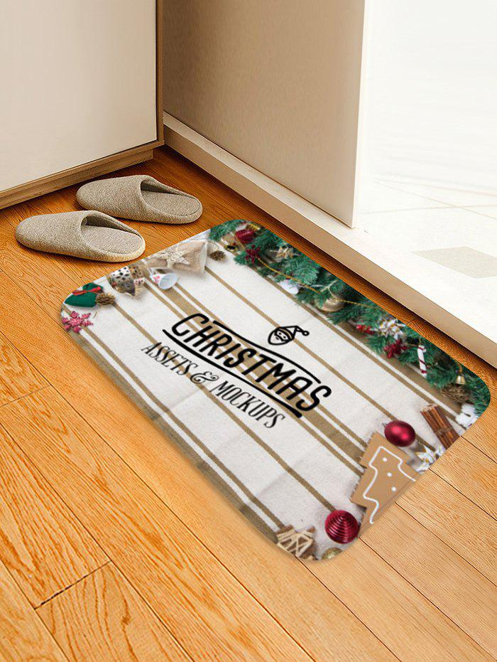 Outfits Christmas Theme Print Floor Mat