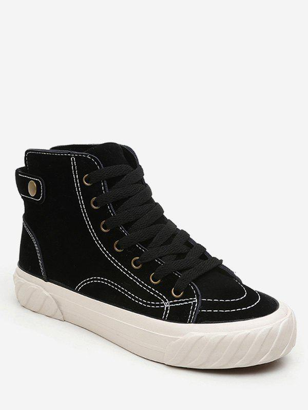 Fashion Lace Up Suede Sneaker Boots
