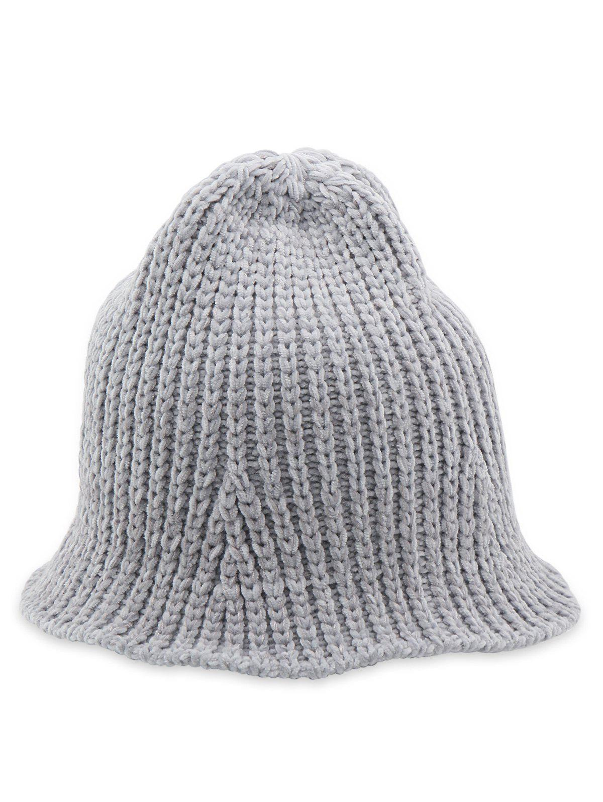 Hot Flanging Knitted Fisherman Hat