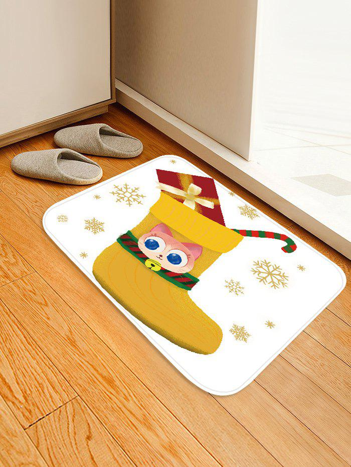 Trendy Christmas Stocking Gift Snowflake Printed Floor Mat