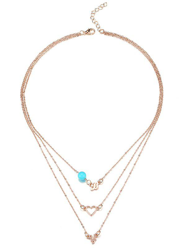 Chic Hollow Heart Shape Layer Chain Necklace