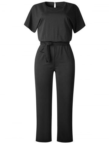 4525c10b8d7 Black Short Sleeve Jumpsuit - Free Shipping
