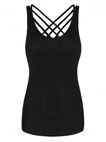Strappy Criss Cross Solid Tank Top