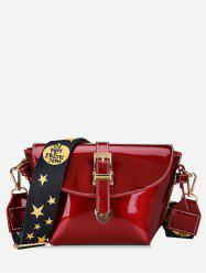 Patent Leather Star Pattern Shoulder Bag -