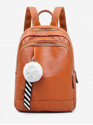 Faux Fur Ball Large Capacity Backpack -