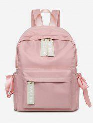 Ribbon Decor Oxford Cloth School Backpack -