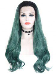 Synthetic Free Part Ombre Wavy Lace Front Wig -