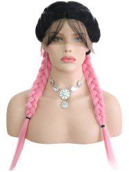 Middle Part Colormix Double Braids Lace Front Wig -