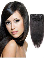 Clip in Straight Human Hair Extensions -