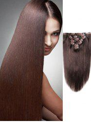 Human Hair Straight Clip in Hair Extensions -