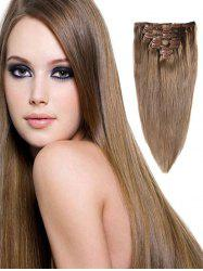 Real Human Hair Straight Clip-in Hair Extensions -
