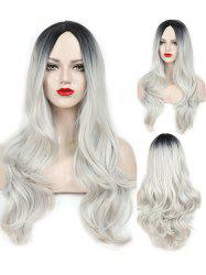 Middle Part Wavy Long Capless Party Synthetic Wig -