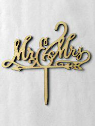 Mr and Mrs Wooden Wedding Cake Topper -