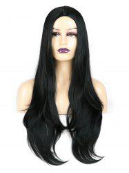 Center Parting Straight Long Capless Synthetic Wig -