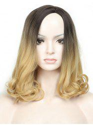 Medium Side Parting Colormix Wavy Capless Synthetic Wig -