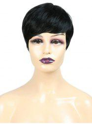 Inclined Fringe Straight Short Synthetic Wig -