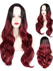 Middle Part Wavy Party Long Capless Synthetic Wig -