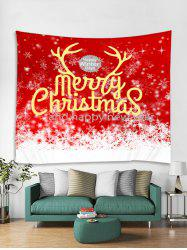 Merry Christmas Snowflakes Print Tapestry Wall Hanging Art -