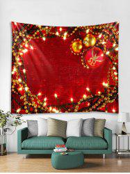 Christmas Balls Lights Print Tapestry Wall Hanging Art Decoration -