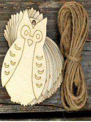 10PCS Easter DIY Owl Hanging Decorations -