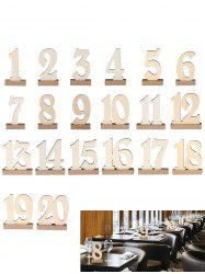 Number 1 to 20 Sign Wooden Wedding Party Decoration Set -