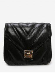 Metal Hasp Square PU Crossbody Bag -
