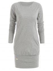 Long Sleeve Mini Casual Dress -