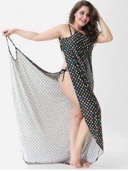 Polka Dot Plus Size Beach Cover Up -