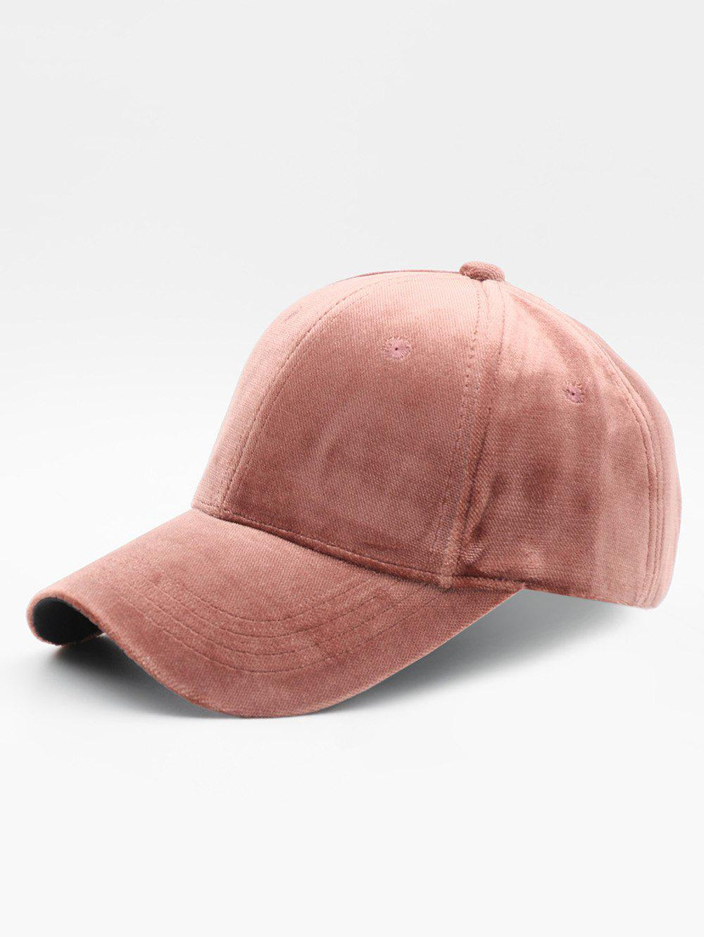 Shop Simple Style Suede Baseball Hat