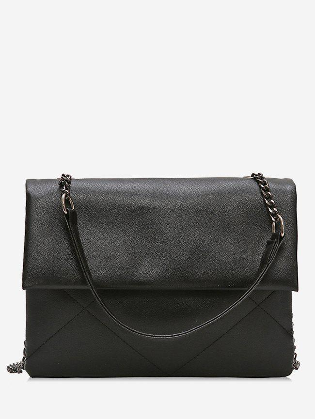 Outfit Minimalist PU Leather Chain Shoulder Bag