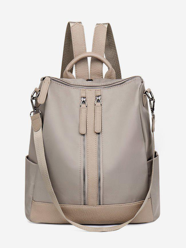 Sale Zipper Backpack with PU Panel