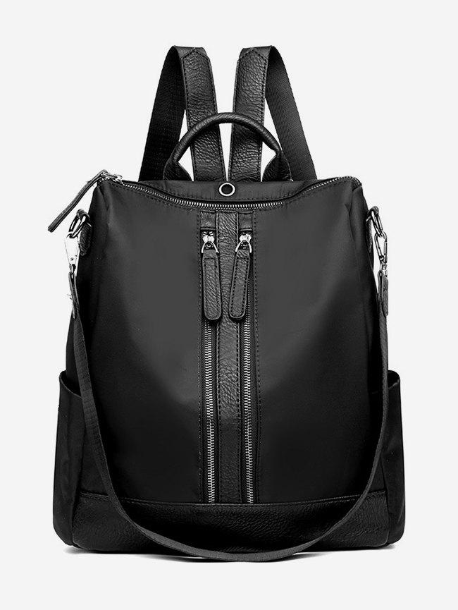 Shops Zipper Backpack with PU Panel