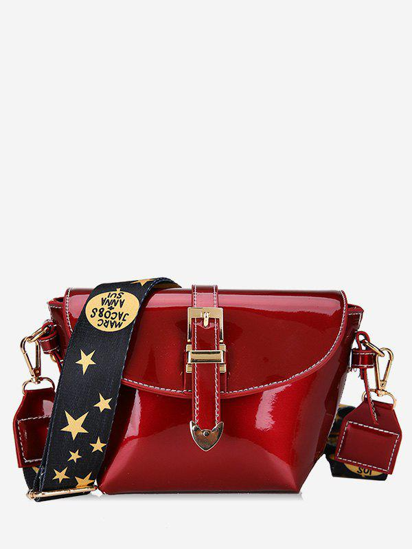 Hot Patent Leather Star Pattern Shoulder Bag