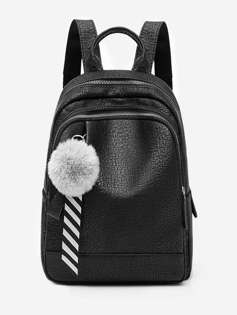 Buy Faux Fur Ball Large Capacity Backpack