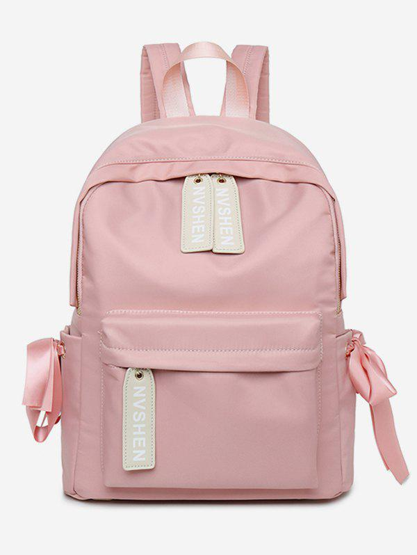 Affordable Ribbon Decor Oxford Cloth School Backpack