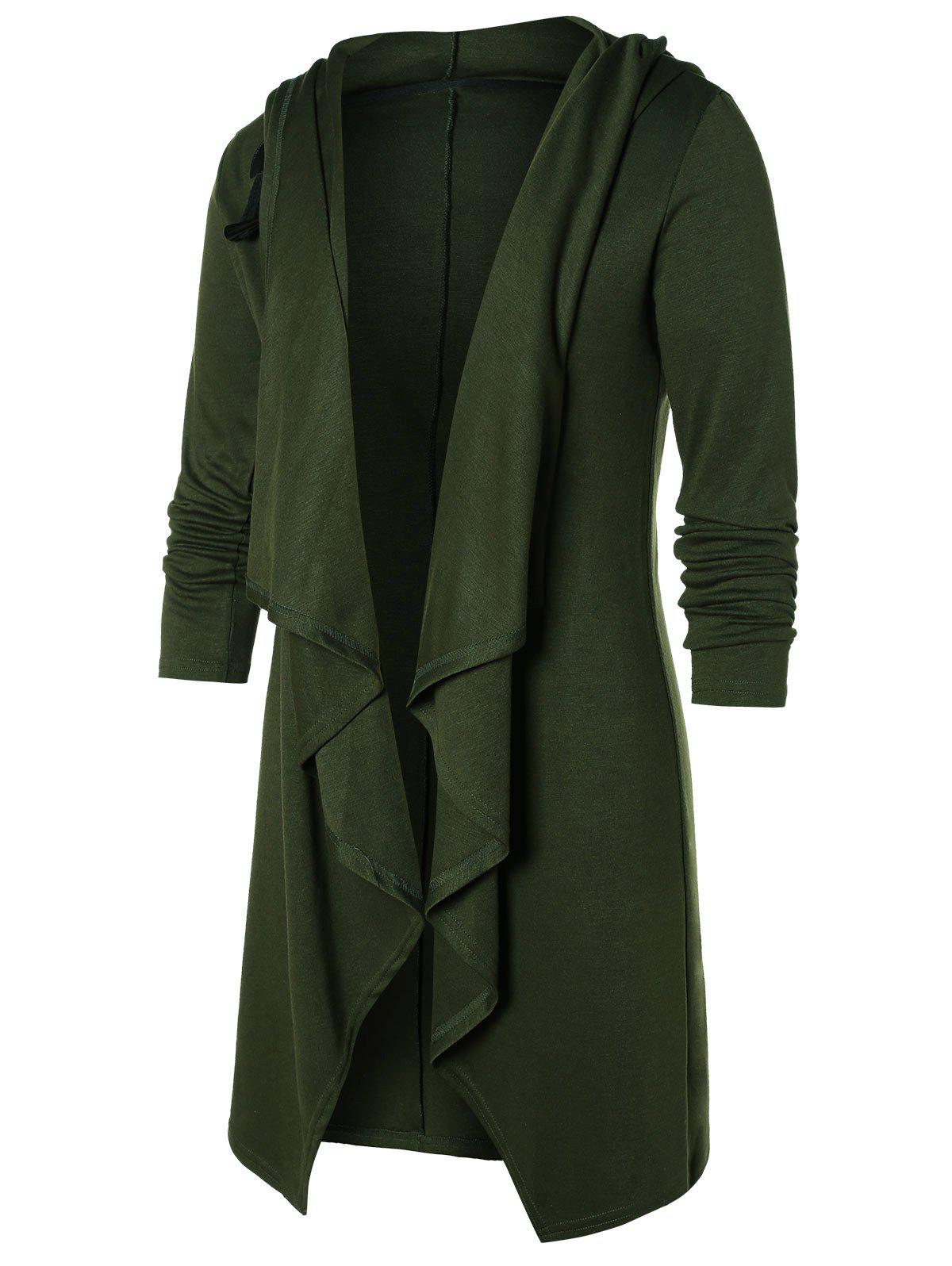 Outfits Open Front Solid Hooded Coat