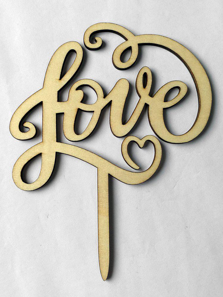 Outfit Love Wooden Wedding Cake Topper