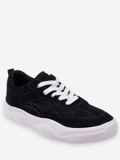 Trendy Fur Lined Lacing Casual Sneakers
