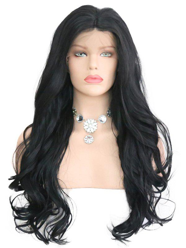 Outfit Synthetic Lace Front Middle Part Wavy Wig