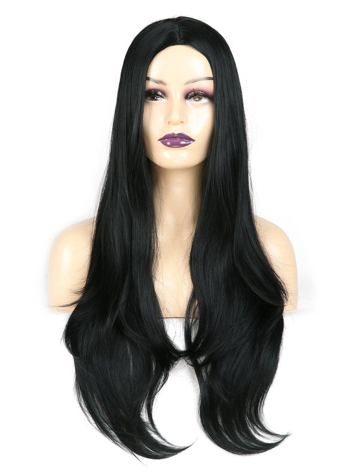 Shop Center Parting Straight Long Capless Synthetic Wig