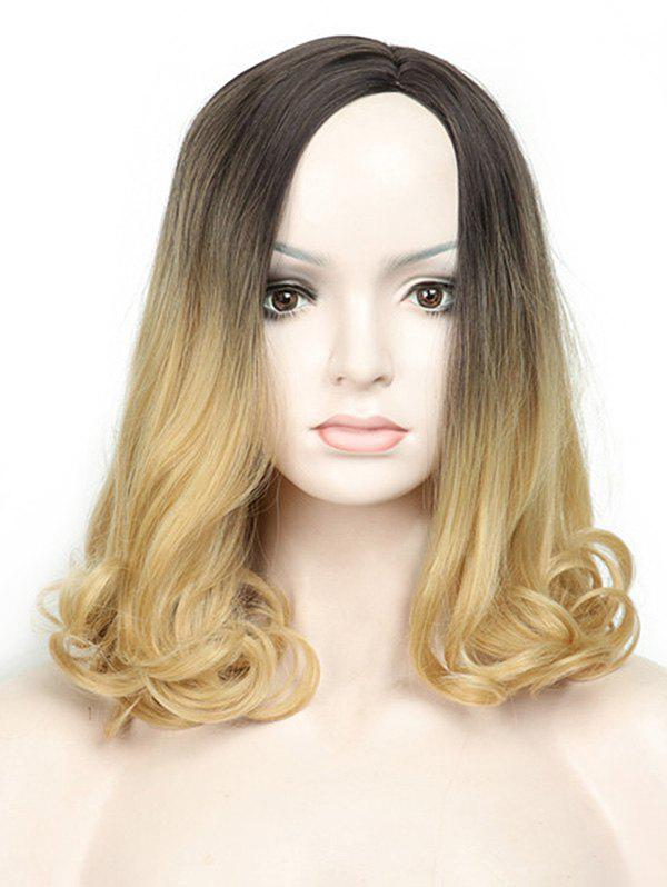 Unique Medium Side Parting Colormix Wavy Capless Synthetic Wig