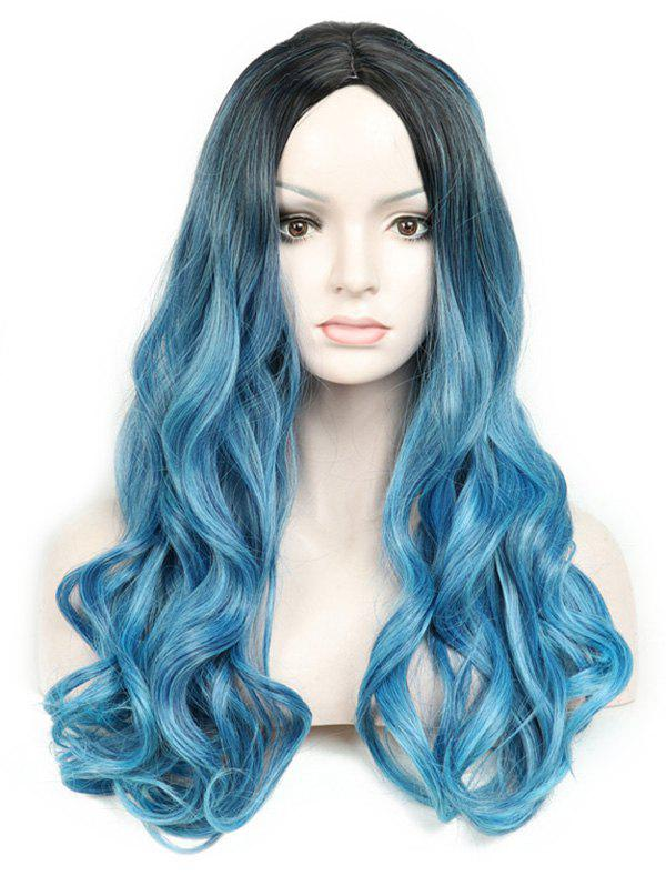 Sale Long Center Parting Colormix Loose Wave Party Synthetic Wig