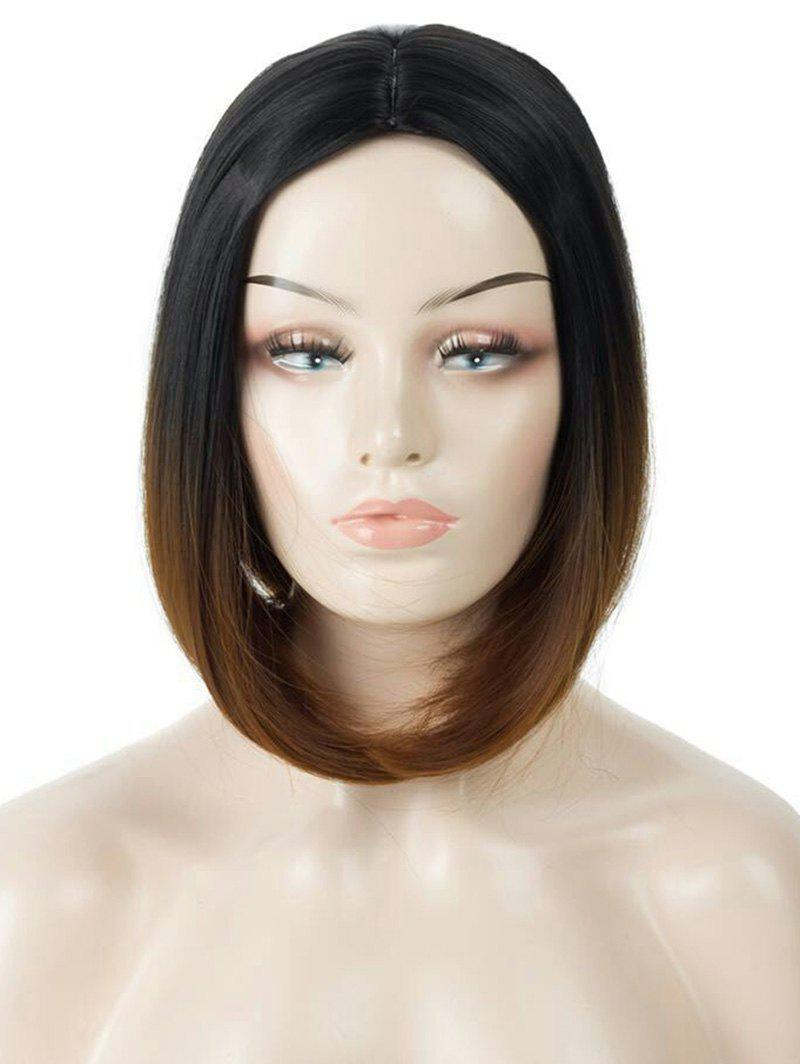 Outfits Middle Part Short Ombre Straight Bob Capless Synthetic Wig