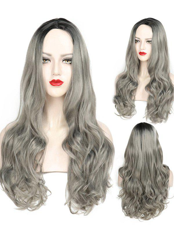 Cheap Middle Part Wavy Party Long Capless Synthetic Wig