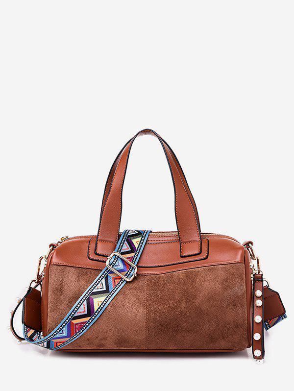Chic Contrast Pillow Style Crossbody Bag