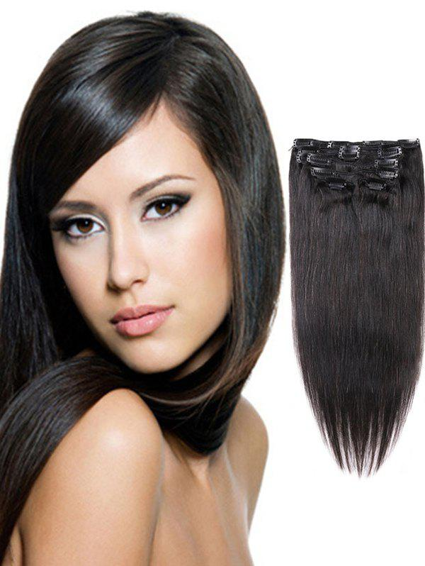 Hot Clip in Straight Human Hair Extensions