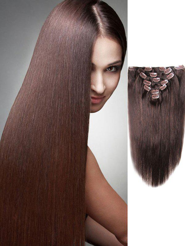 New Human Hair Straight Clip in Hair Extensions